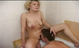 Mature Babysitter Gets very  Horny