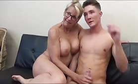 Mature Milf seduces and fucks 18 YO stepson