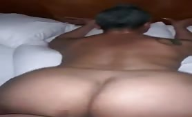 50 Year old throwing fat ass on big black cock