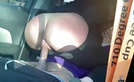 Fucking a sexy big butt stranger in my car