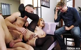 Horny Paris lincoln caught by her husband fucking his friend